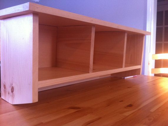Unfinished Pine Wall Mount Shelf with by CanadianWoodenCrafts