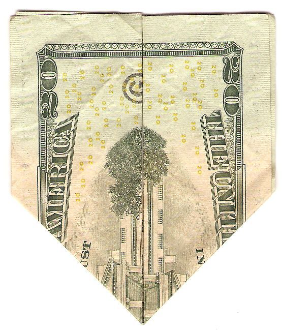 How to make a 20 dollar bill turn into the twin towers falling