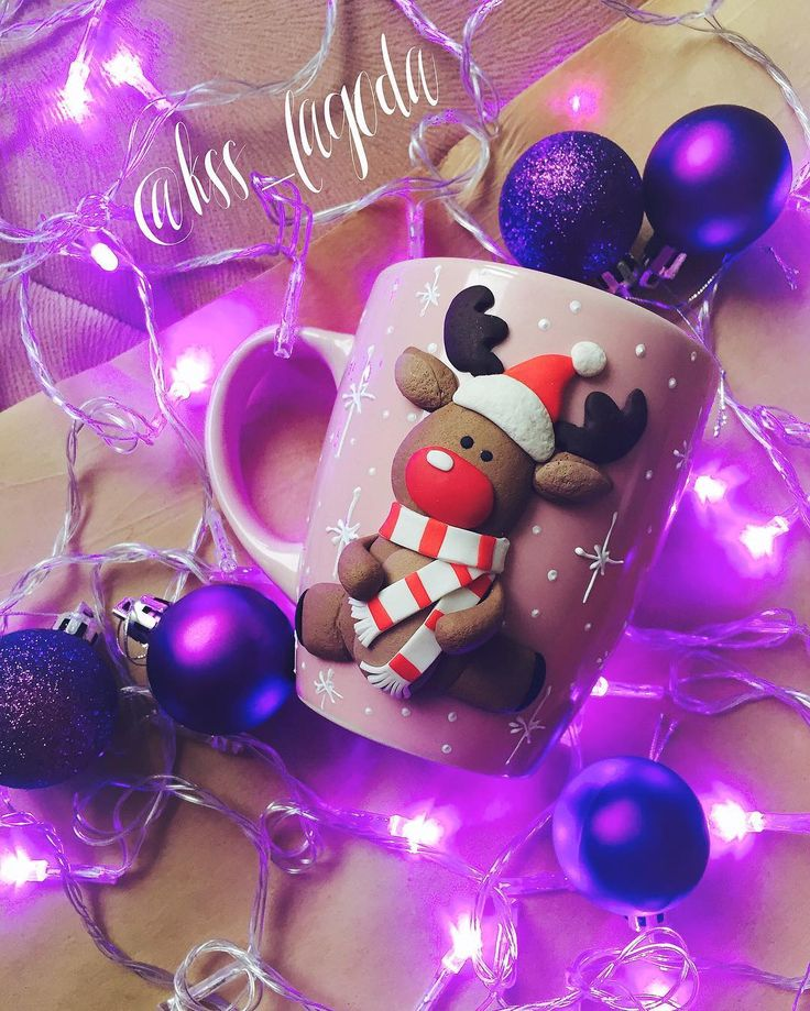 #новогоднийподарок #новыйгод #полимернаяглина #полимернаяглинанакружках #вкусныеложки #lojklksslagoda