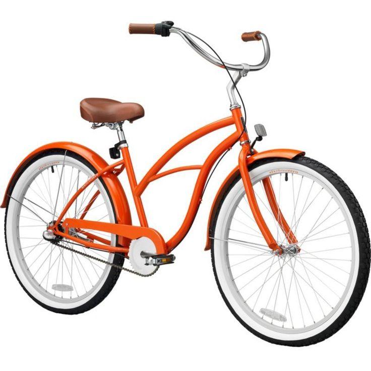 sixthreezero Women's 26'' Dreamcycle Three Speed Beach Cruiser Bike, Orange