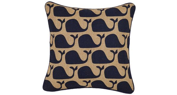 Whale Patterned Cushion
