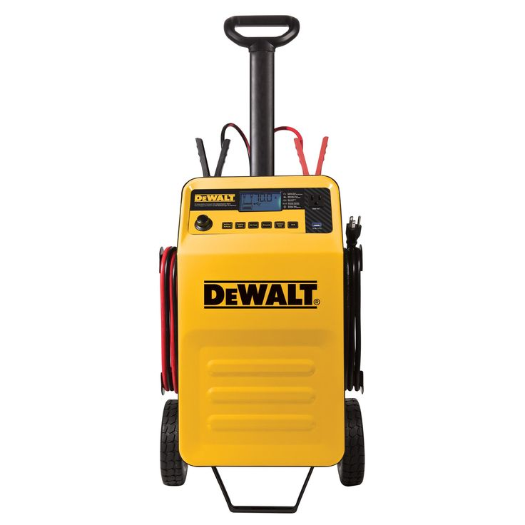 DEWALT DXAEC210 70 Amp Rolling Battery Charger with 210 Amp Engine Start and 2 Amp Maintainer