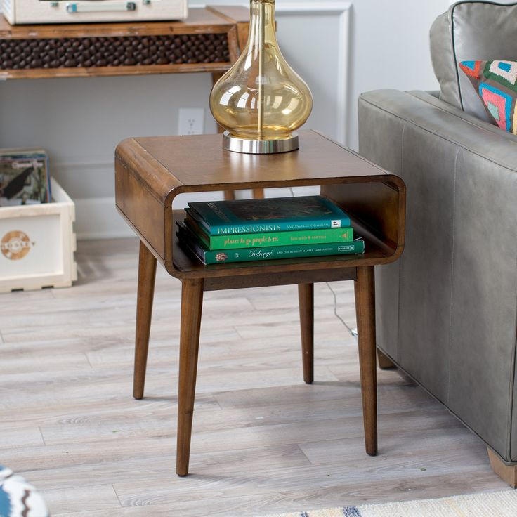 Belham Living Carter Mid Century Modern Side Table - End Tables at Hayneedle