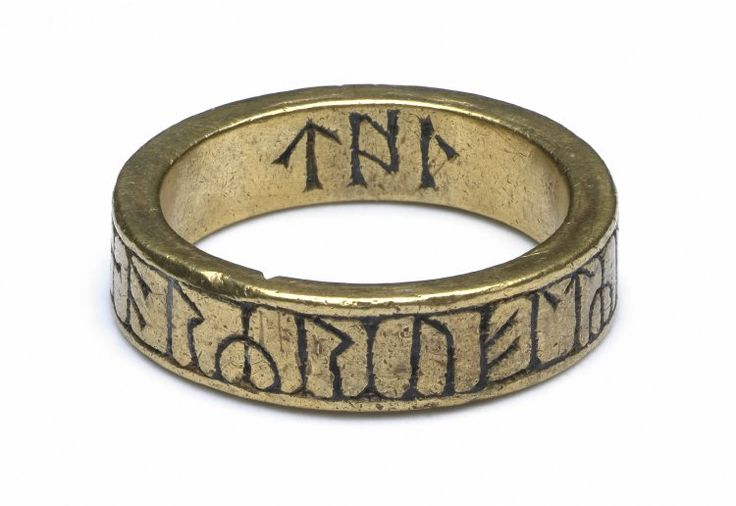 Viking rune ring from the 8th -10th century found in Cumbria, England. The inscription is most likely a religious prayer or magical charm