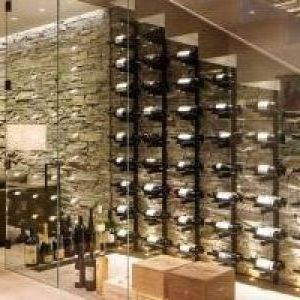 denver Display Cases with mahogany wine glass racks cellar contemporary and under staircase display case