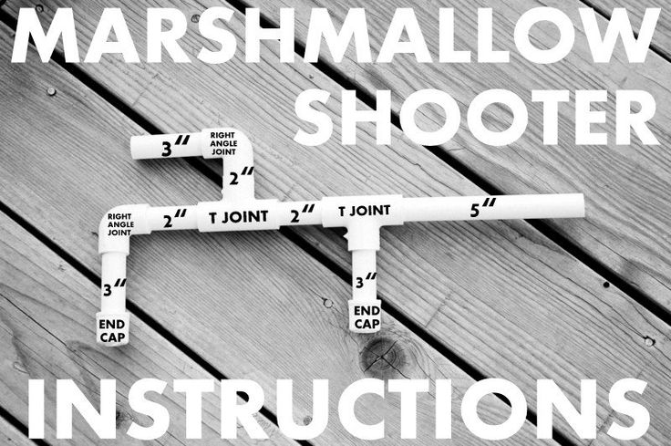 Instructions and tips for making marshmallow shooter guns at a party! Great birthday party game idea! These are so inexpensive to do and use as a favor.