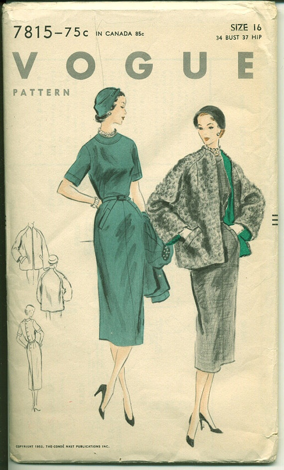 vintage sewing pattern found at CynicalGirl on Etsy.