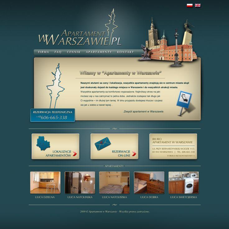 Projekt strony WWW Apartament w Warszawie.