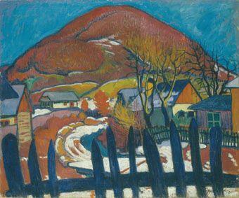 Ziffer, Sándor, Winter Landscape with Fence, (c1910).