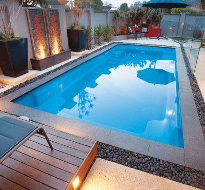 Fibreglass pools for narrow backyards