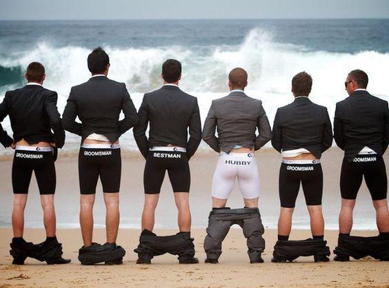 Groomsmen underwear Funny Wedding Pictures: