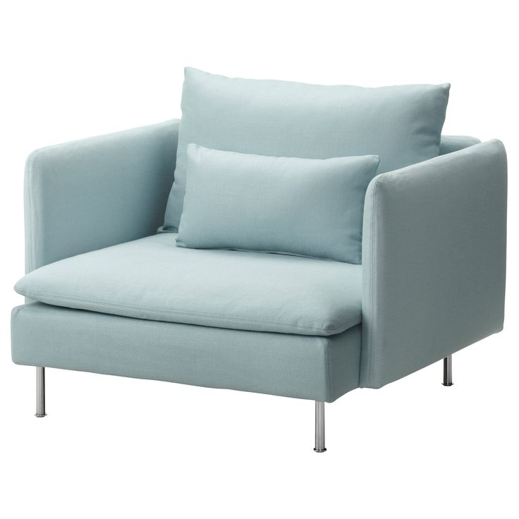 SÖDERHAMN Chair - Isefall light turquoise - IKEA I would love a pair of these across from my sofa.