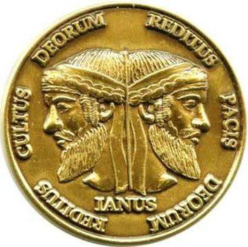 Jano (en latín Janus, Ianus) es, en la mitología romana, un dios que tenía dos caras mirando hacia ambos lados de su perfil, padre de Fontus. Jano era el dios de las puertas, los comienzos y los finales