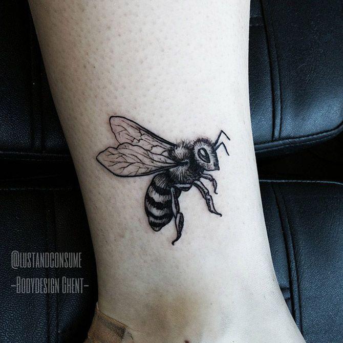 Busy Bee Tattoo - http://giantfreakintattoo.com/busy-bee-tattoo/