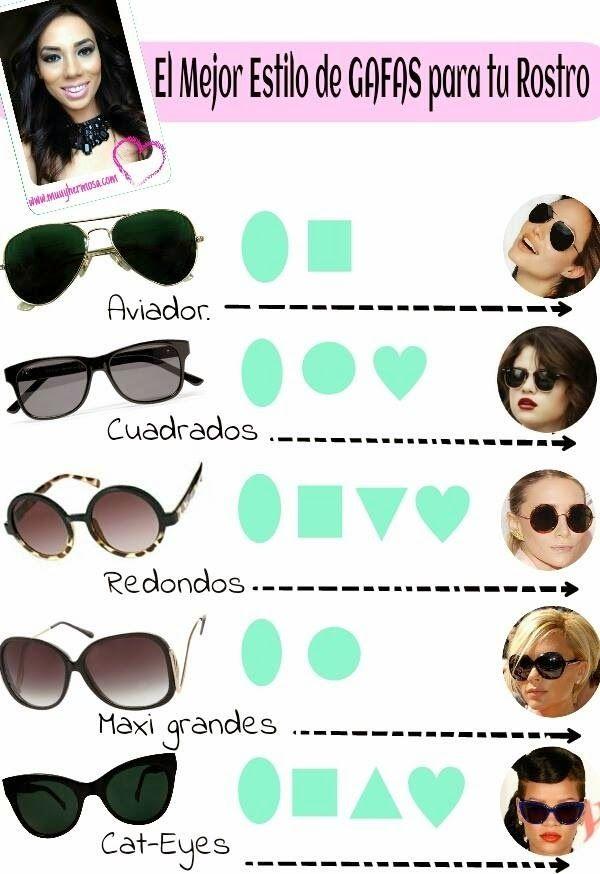 Tipo de gafas según tu rostro.  http://www.muuyhermosa.com/2014_04_01_archive.html