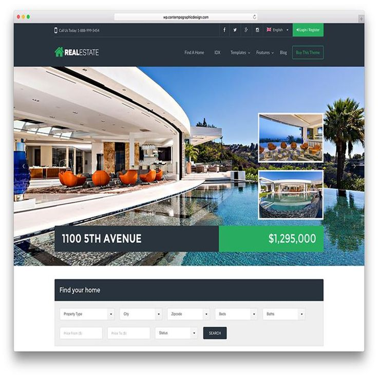 136 best Real Estate WordPress Themes images on Pinterest - wordpress resume theme