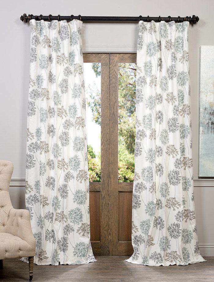 allium blue gray printed cotton curtain sku prtwd05 at https