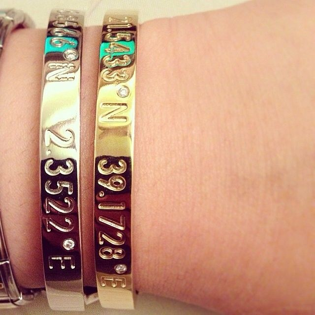 Coordinates Collection - custom jewelry with geographic coordinates of your happy place