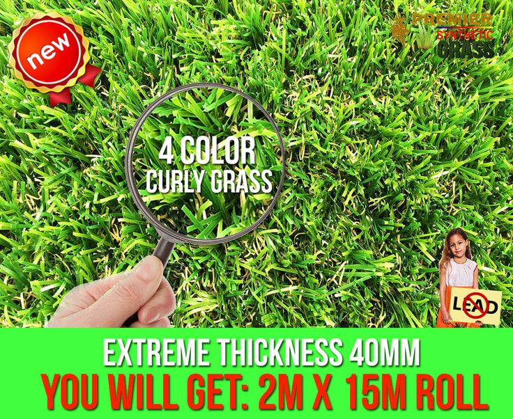 Quality Artificial Grass 4 color 40mm Great Sandy Fake Lawn $839.70 per 30 sqm