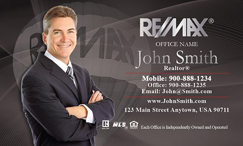 24 best remax business cards images on pinterest real estate remax business card design dark gray colourmoves