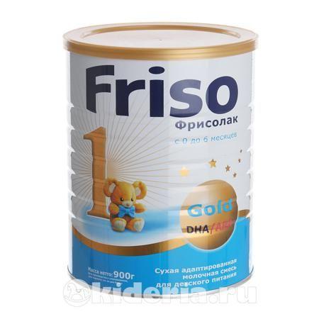 Friso Молочная смесь 1 GOLD, с рождения  — 1042р. -------------- Фрисолак 1 Gold – сухая адаптированная  молочная смесь для детского питания  с 0  до 6  месяцев.   Грудное молоко является эталоном для создания молочных смесей Фрисо.  Наши специалисты постоянно учитывают современные научные данные и  действующие международные рекомендации, поэтому в состав смесей Фрисо  включены все ингредиенты, необходимые для гармоничного роста и развития  ребенка.   По модели грудного молока смесь Фрисолак…