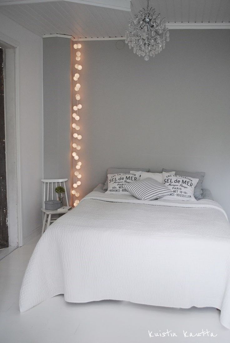 Who needs a night stand light, when you can mount something beautiful like this? Copy this