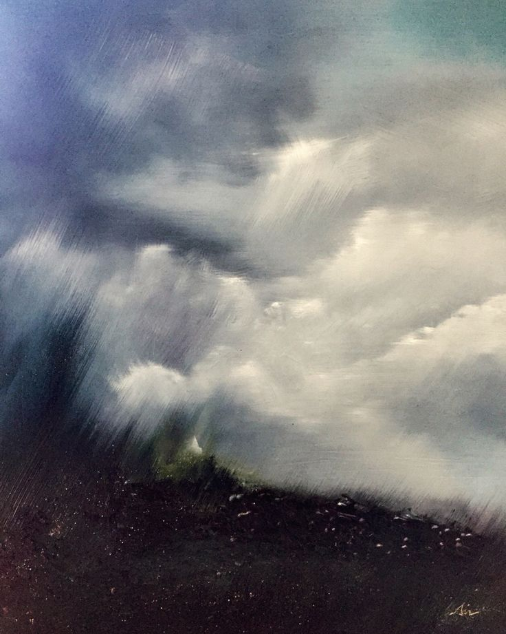 Sinead Lawless - oil on canvas - 'Storm'