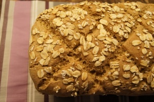Havrebrød med surdeig