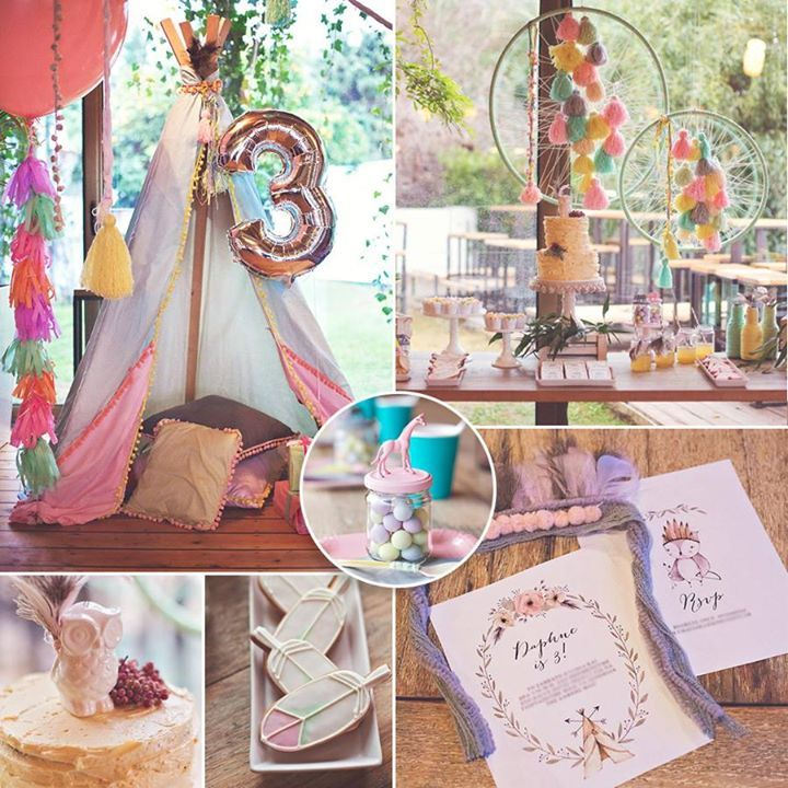"""From pretty feather cookies to ice-cream-hued dream catchers, this darling Boho Chic Birthday Party by RockPaperScissors is filled with lovely ideas for """"flower children"""" of ALL ages! See the full party"""