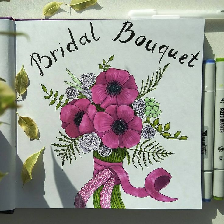 bridal bouquet. Anemones