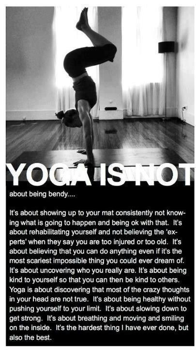 you can continue yoga practice off of the mat...breathe and stay in the present moment.