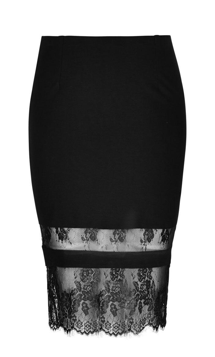 Clip zip waist trainer perfect floral design waist training cinchers - City Chic Midi Lace Tube Skirt Women S Plus Size Fashion