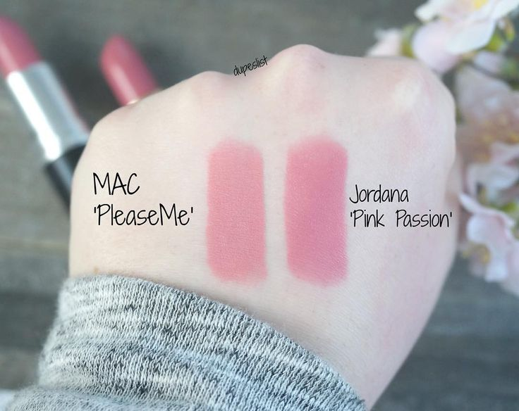 As promised the swatches for MAC 'Please Me' (20,50€) & Jordana 'Pink Passion' (5,46€).  Love this kind of pink so much.