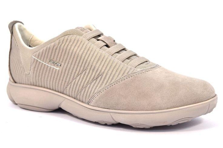 GEOX U62D7F 08822 C5097 NEBULA SUEDE ROCK Beige Sneakers Uomo Camoscio Estiva