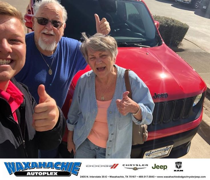 Congratulations Judy on your #Jeep #Renegade from Clayton Cochran at Waxahachie Dodge Chrysler Jeep!  https://deliverymaxx.com/DealerReviews.aspx?DealerCode=F068  #WaxahachieDodgeChryslerJeep
