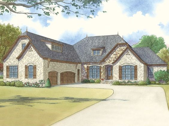 074H-0024: One-Story European House Plan