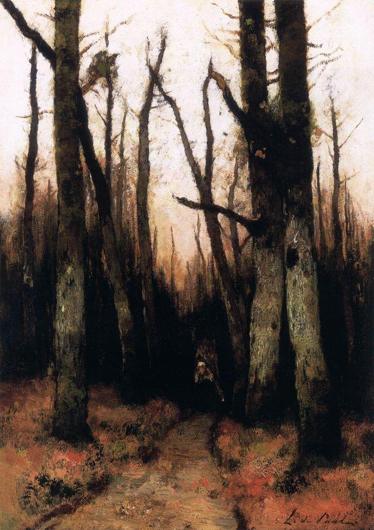 """centuriespast: """"PAÁL, László Sunset c. 1874 Oil on canvas, 61 x 44 cm Private collection """""""