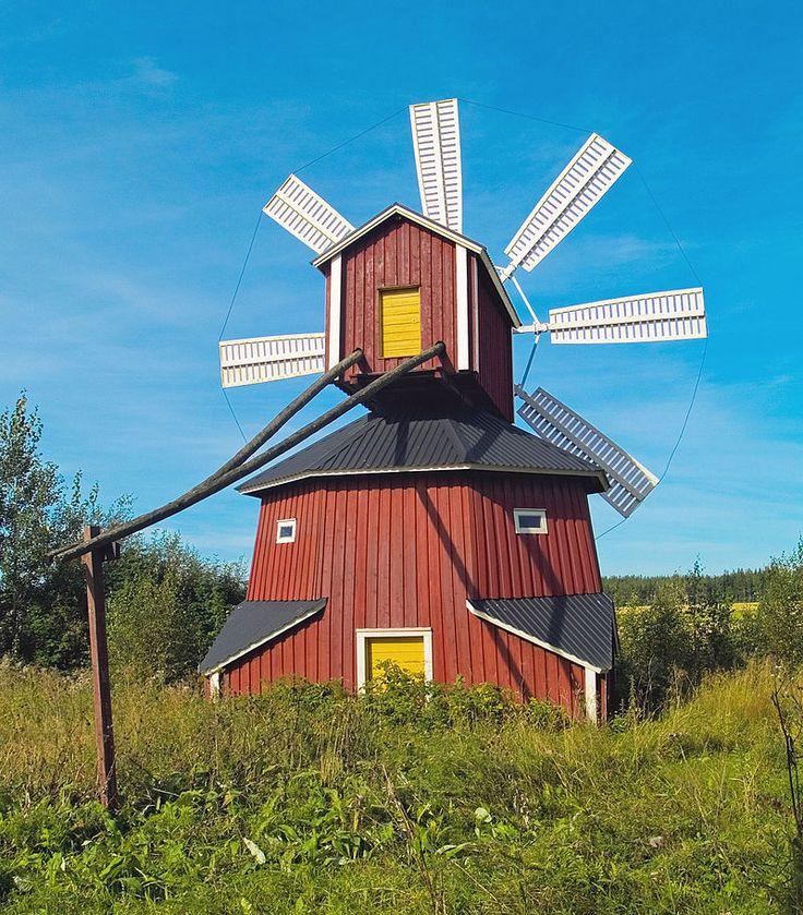 Windmill in Luopajarvi village, Jalasjarvi, Finland.
