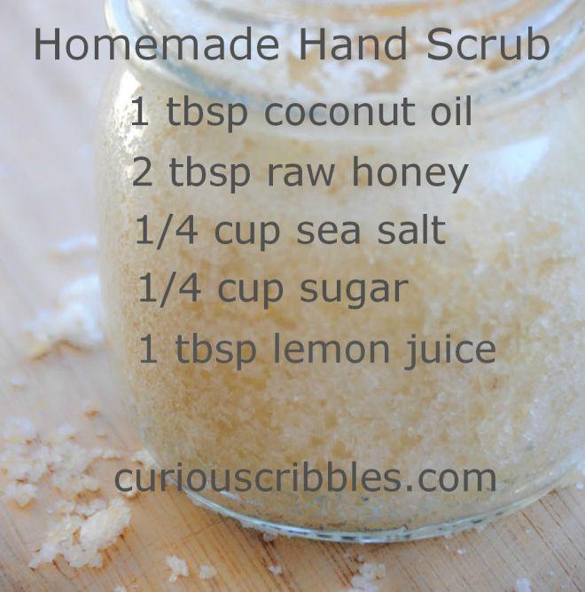 Homemade Hand Scrub | Curiouscribbles