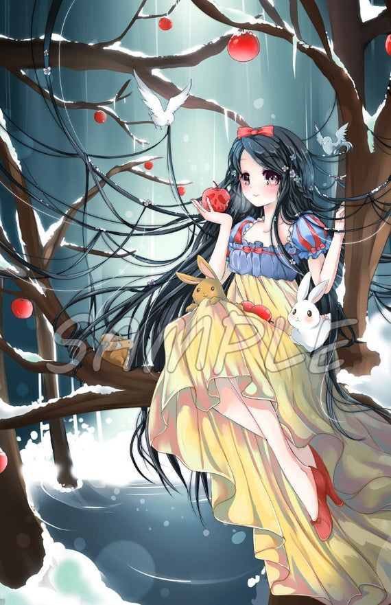 Snow White Grimm Fairy Tale Large Print Etsy In 2020 Disney Princess Anime Anime Princess Anime Snow