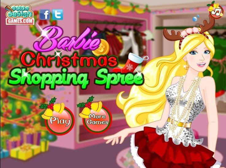Piękna modelka wybiera się na świąteczne zakupy do galerii handlowej. Musi kupić fajną sukienkę na imprezę! http://www.ubieranki.eu/gry/3673/swiateczne-zakupy-barbie.html