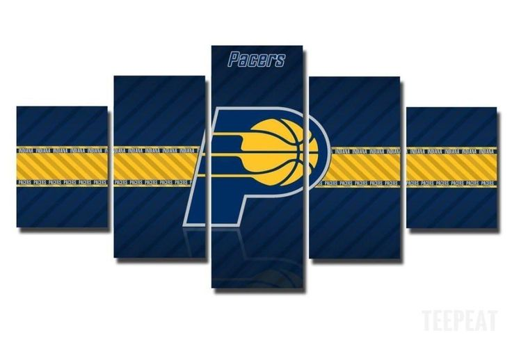 2017 Indiana Pacers Banner - 5 Piece Canvas Painting