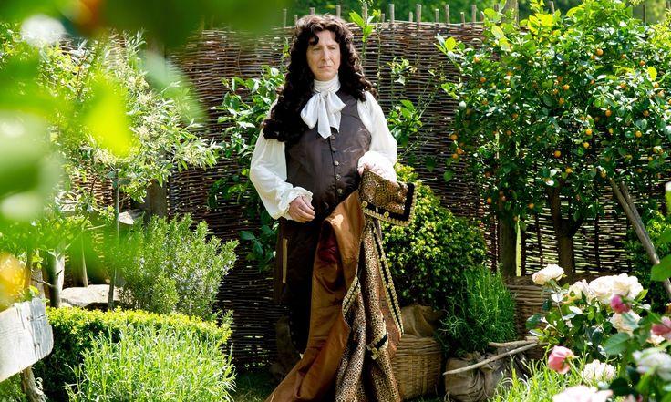 alan rickman as Louis XIV. http://www.theguardian.com/film/filmblog/2015/apr/23/reel-history-a-little-chaos-alan-rickman-kate-winslet-palace-of-versailles