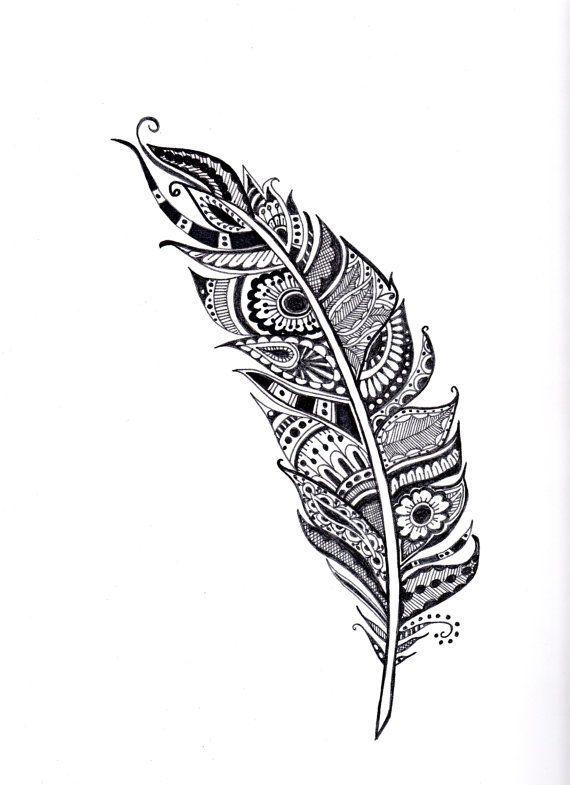 20 Mandala Tattoo Feather Ideas And Designs