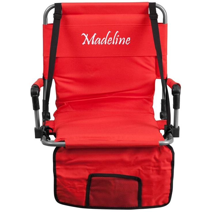 Personalized Red Stadium Chair WL-03420-FF