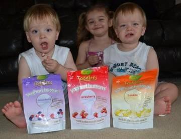 These gorgeous kids can't get enough of the Rafferty's Garden Yoghurt Buttons.    www.raffertysgarden.com    #RaffertysGarden