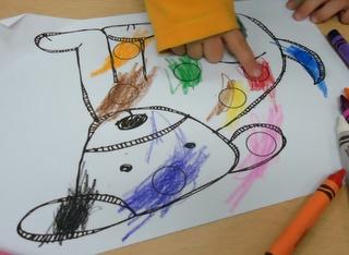 Kids color the cutest.