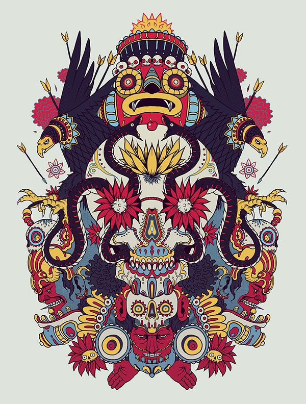 VARIOUS ILLUSTRATIONS 2 on Behance ART DIRECTION - DESIGN & ILLUSTRATION BY SKINPOP - Xess Pin