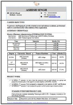 Professional Curriculum Vitae / Resume Template for All Job Seekers  Sample Template / Professional / Beautiful Example of an Fresher MBA IT Resume Sample, Professional Curriculum Vitae with Free Download in Word Doc / Pdf (2 Page Resume) (Click Read More for viewing and downloading the sample)f  ~~~~ Download as many CV's for MBA, CA, CS, Engineer, Fresher, Experienced etc / Do Like us on Facebook for all Future Updates ~~~~