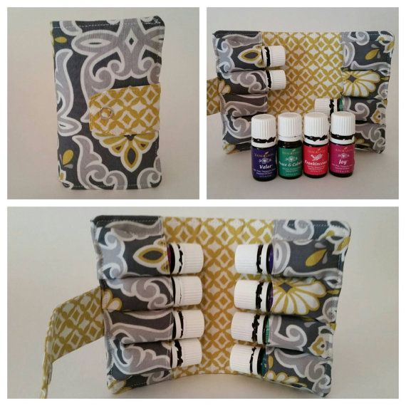 Holds 5 ml bottles - Essential Oils Carrying Case - choose your fabric